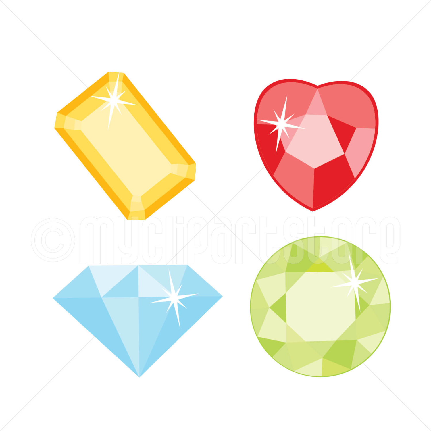 Gems clipart jewellery  Gems and digital file