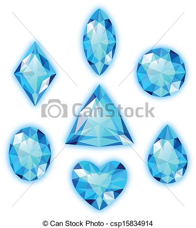 Gems clipart logo White of gems csp15834914