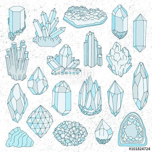 Drawn crystals Crystal drawn 25+ gem Hand