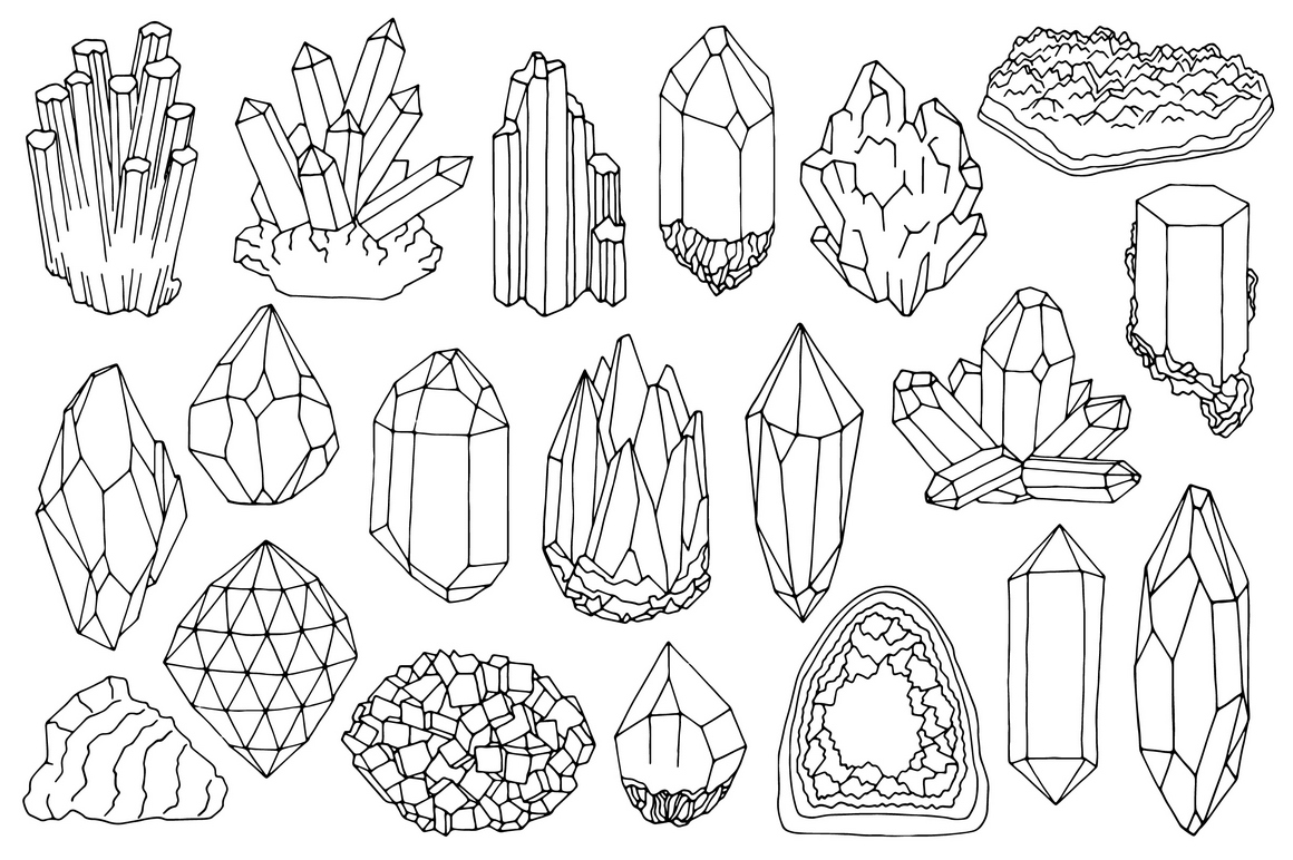 Crystals clipart black and white Clipart Krupina gems Nadya clipart
