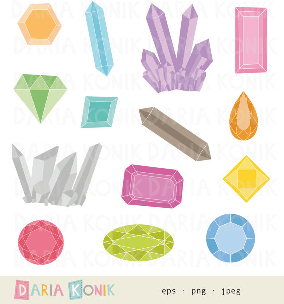 Gems clipart pirate Set Jewels diamonds by gems