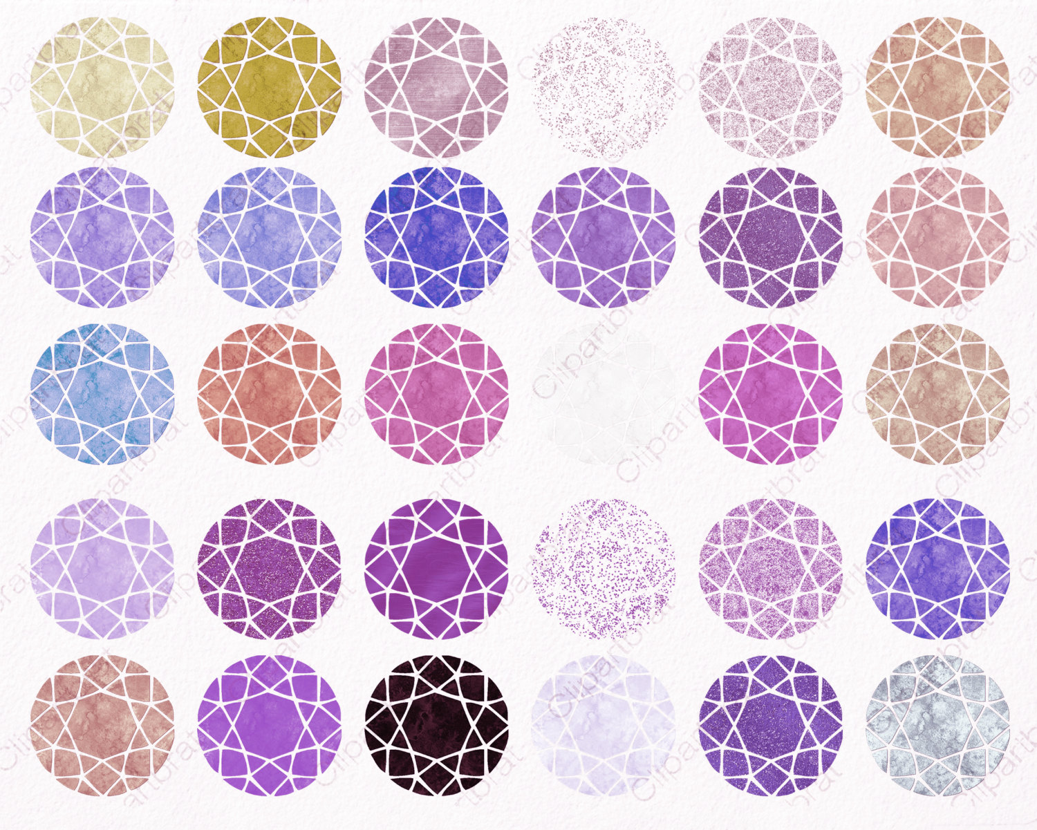 Gems clipart purple diamond Use Clipart Gem  WATERCOLOR