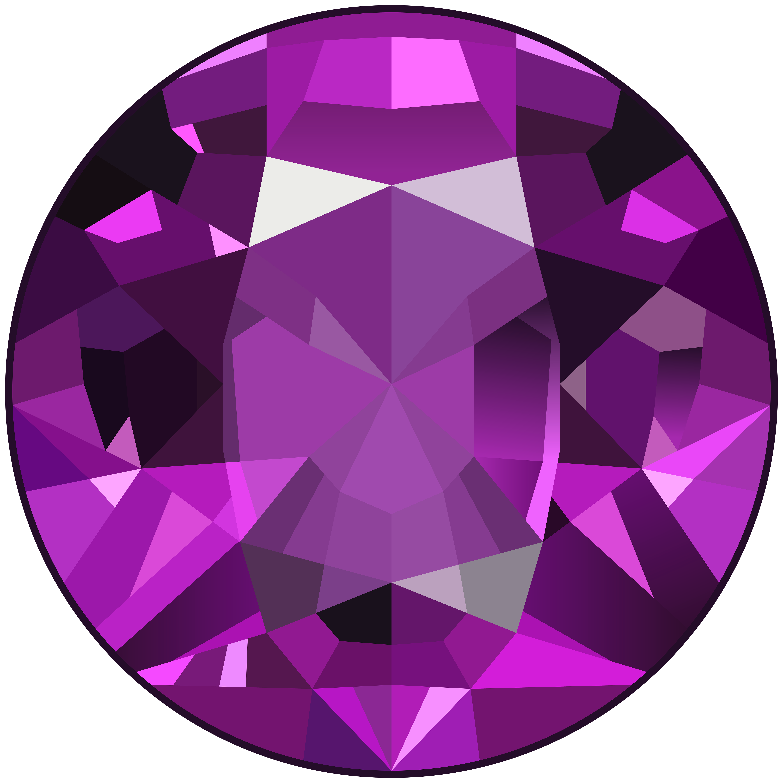 Gems clipart hexagon Purple PNG  Yopriceville Gem