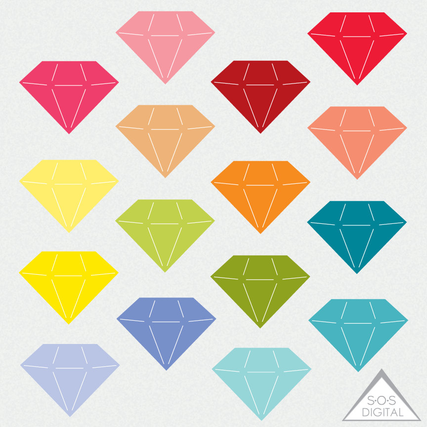 Diamond clipart pile diamond Digital Gemstone a Diamond file