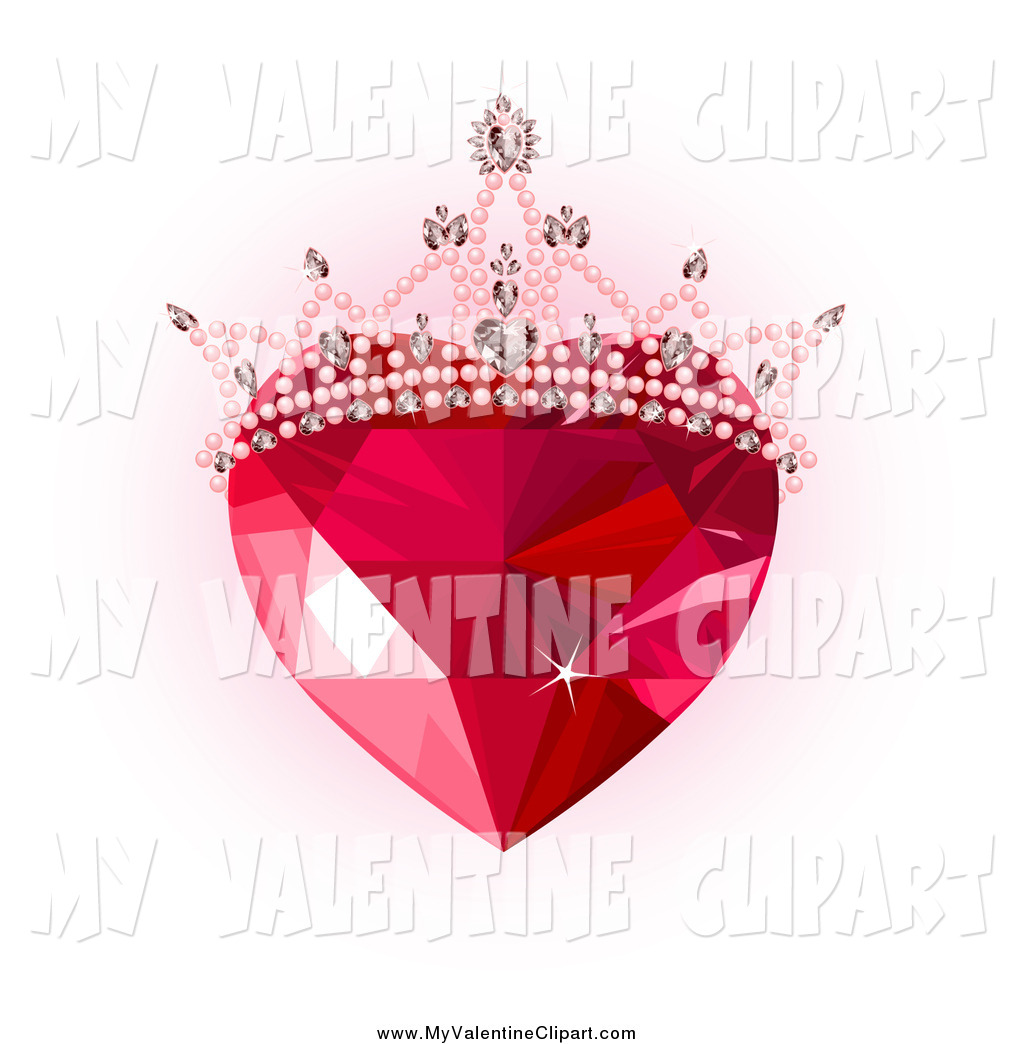 Gems clipart ruby Pink Heart over Gem Pink