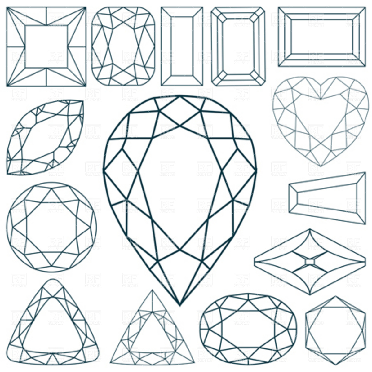 Gems clipart ruby DIAMOND clipart ClipartVectorsLine Pinterest Drawings
