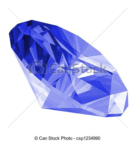 Gems clipart sapphire Sapphire 3d illustration Gem Isolated