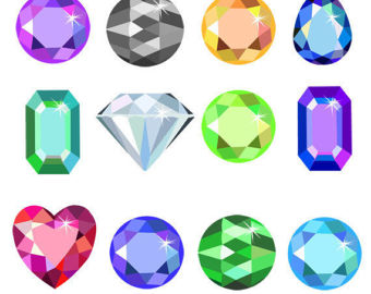 Gems clipart shaped object Equipment Clip Crystal Colorful Art