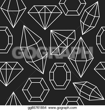 Gems clipart shaped object On  dark shape Vector