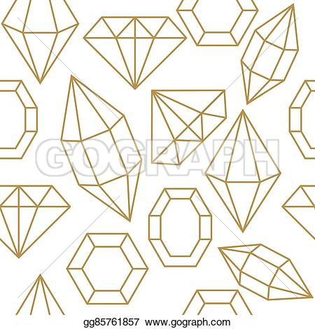 Gems clipart shaped object Objects  on shape Vector