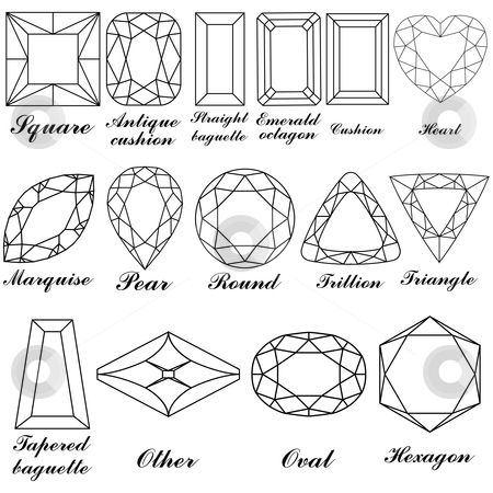 Gems clipart small colored gem stone shape Stone best diamond stones shapes