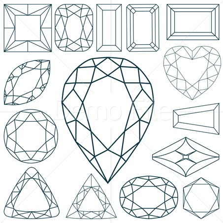 Gems clipart small colored gem stone shape Clip  Art Art on