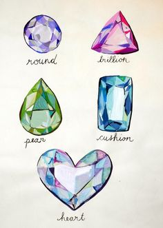 Gems clipart small colored gem stone shape Diamonds on and Stones' 1930's