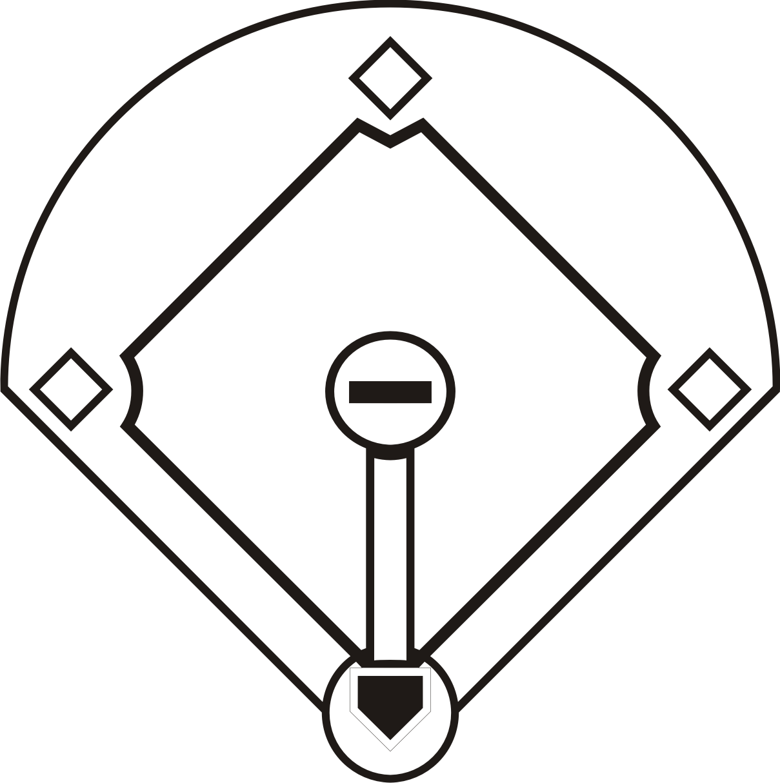 Diamond clipart printable Baseball Clip Baseball Diamond Free