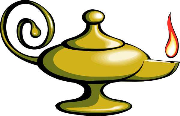 Oil Lamp clipart mud Clipart Aladdin  Genie Lamp