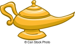 Genie Lamp clipart golden Gold Stock  genie EPS