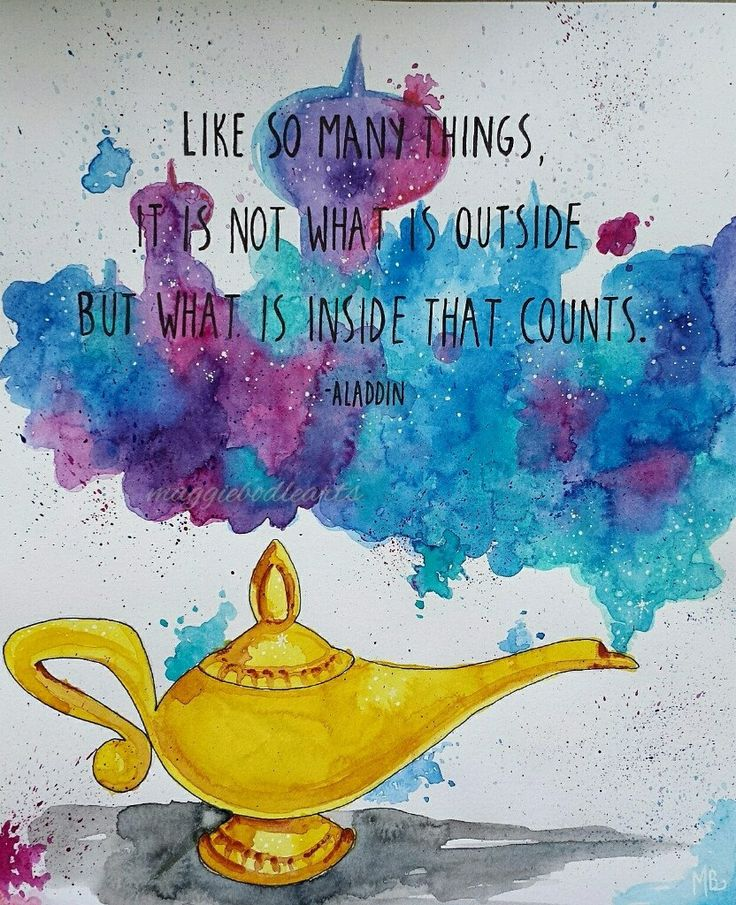 Genie Lamp clipart aladdin quote Art on Lamp PRINT quotes