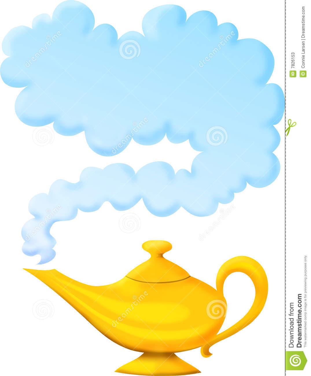 Genie Lamp clipart arabian night Genie Granting Lamp Wish From
