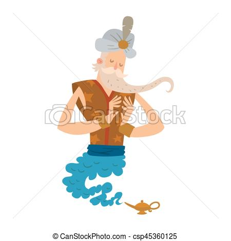 Genie Lamp clipart character #5