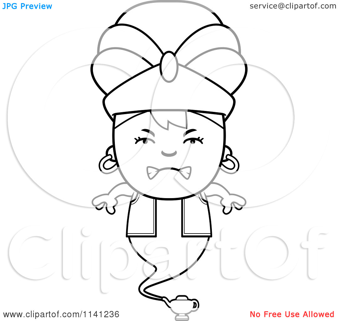 Genie Lamp clipart colouring page Awesome Coloring Cartoon Pages Best