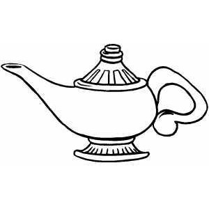 Genie Lamp clipart colouring page Coloring Polyvore Lamp Sheet Sheet