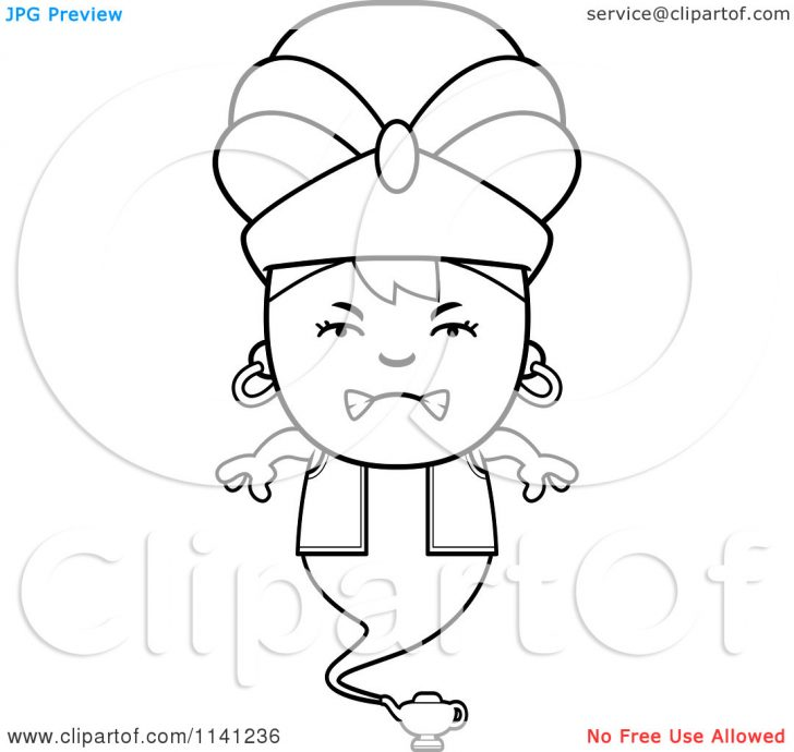 Genie Lamp clipart colouring page For Bottle Pages Genie Coloring