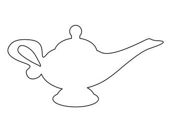 Genie Lamp clipart disney's aladdin Pattern creating ideas outline crafts