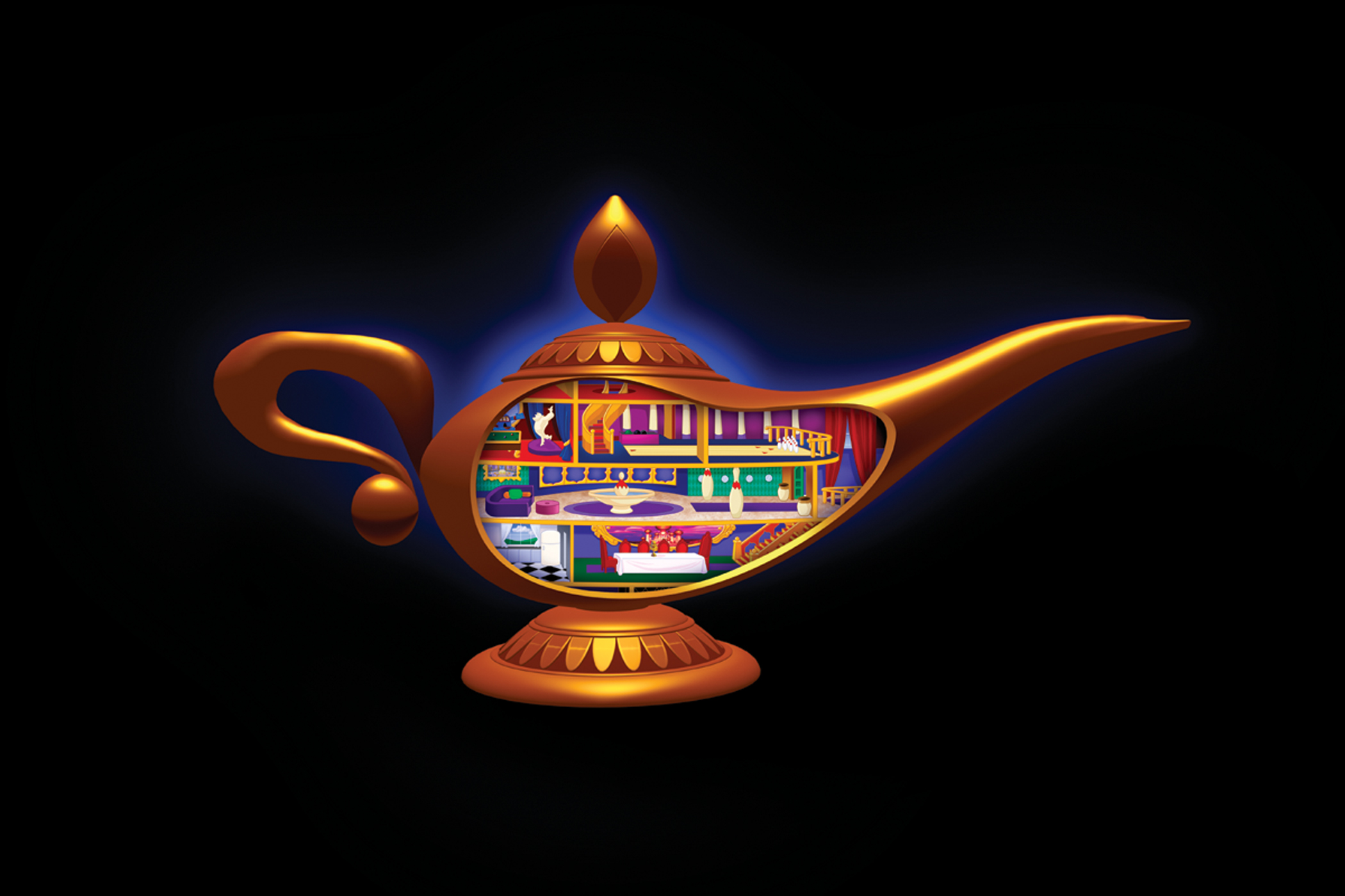 Genie Lamp clipart disney's aladdin Pin helping Aladdin and Lamp