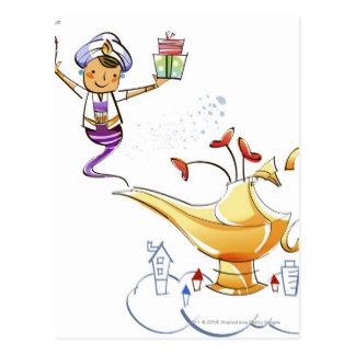 Genie Lamp clipart genie bottle A Zazzle postcard gifts Genies