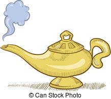 Genie Lamp clipart genie bottle Aladdin's 3 Genie style free