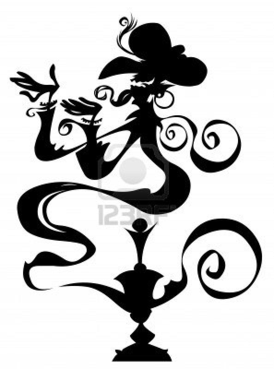 Genie Lamp clipart genie bottle More! Me a Stencils bottle