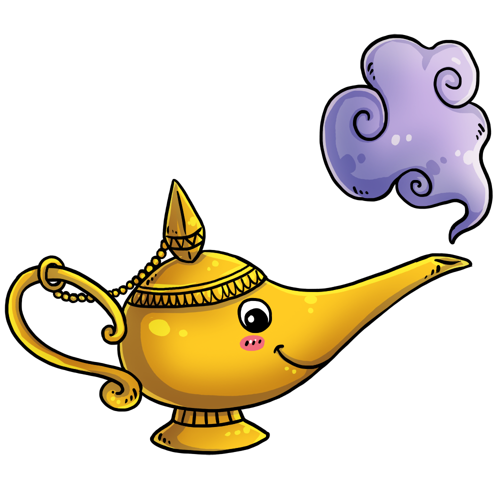Genie Lamp clipart lamp light Cliparts Lamp Genie Cliparts Cartoon