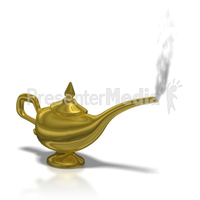 Genie Lamp clipart smoke clipart Figures Genie for Lamp Presentation