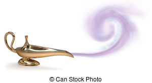 Genie Lamp clipart smoke clipart Lamp vector EPS 1 Clipart