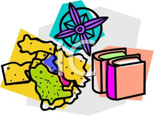 Geography clipart compass map Compass Image: and Map Clipart