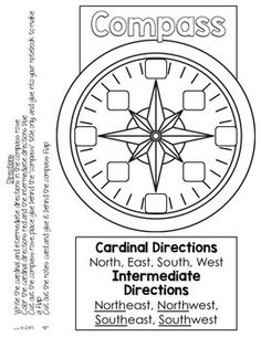 Geography clipart compass map Skills Worksheet the rose Notebook