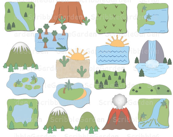 Geography clipart cute Geography ClipArt ClipArt Etsy and