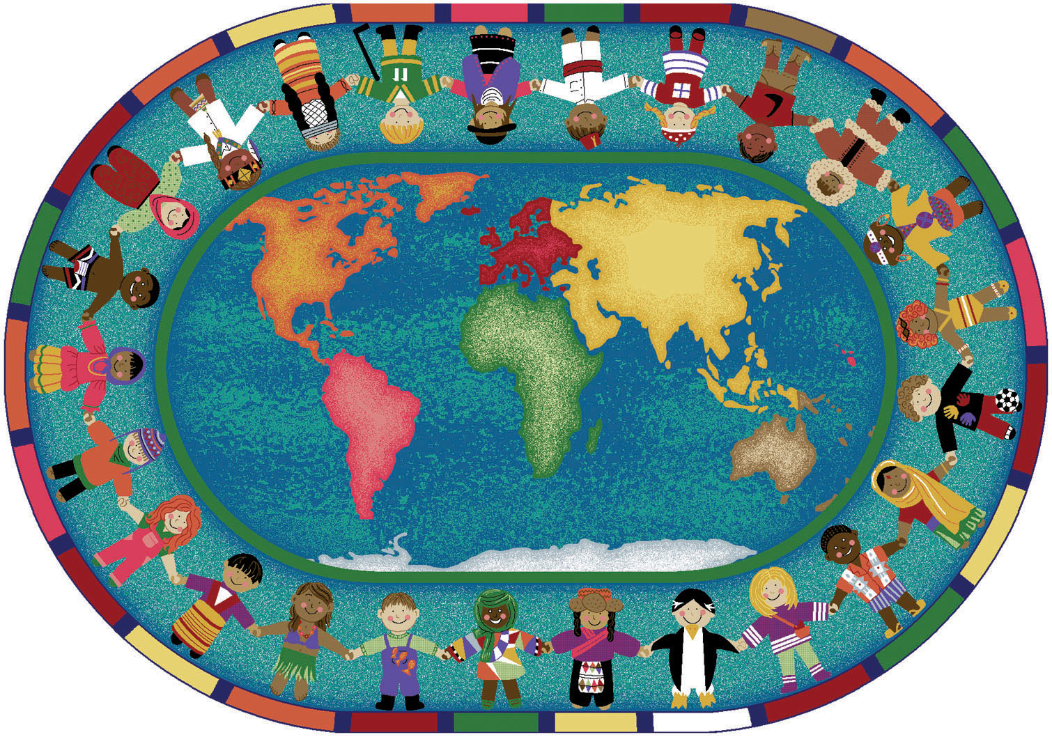 Geography clipart holding hand Holding And Map World Diagram