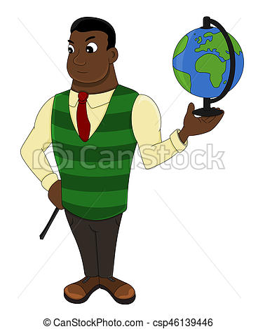 Geography clipart holding hand Of Clipart Cartoon geography globe