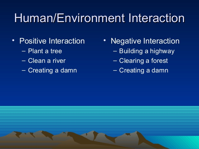 Atmosphere clipart human environment interaction Geography themes 5 Interaction Human/Environment