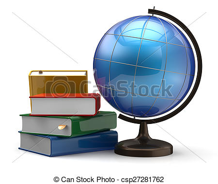Geography clipart international And books and global Globe