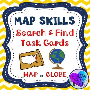 Geography clipart map skill Map Pinterest Cards or Skills