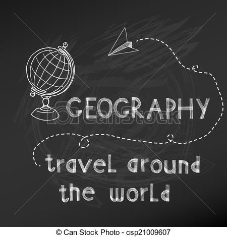 Geography clipart school related Chalk Geography to Illustrations Stock