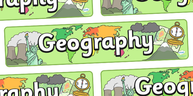 Geography clipart school resource Banner Geography  Scrapbook Geography