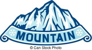 Geography clipart snowy mountain Illustration of Vector landscape mountain