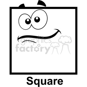 Square clipart cartoon Graphics images Royalty face square