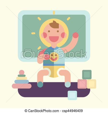 Geometry clipart cute Csp44946409 Cute playing illustration Geometry