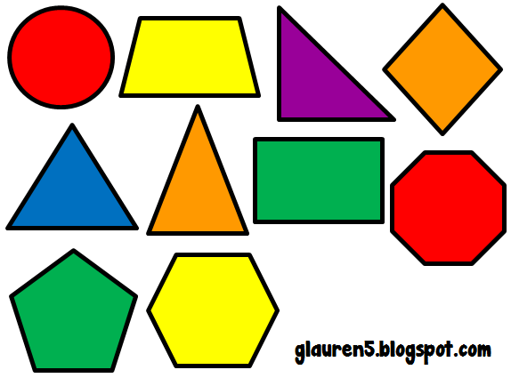Geometry clipart cute Had primary mix Set for