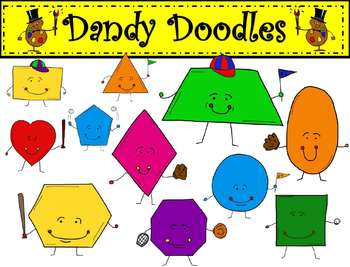Geometry clipart cute shape Geometric Doodles Shapes Baseball Themed