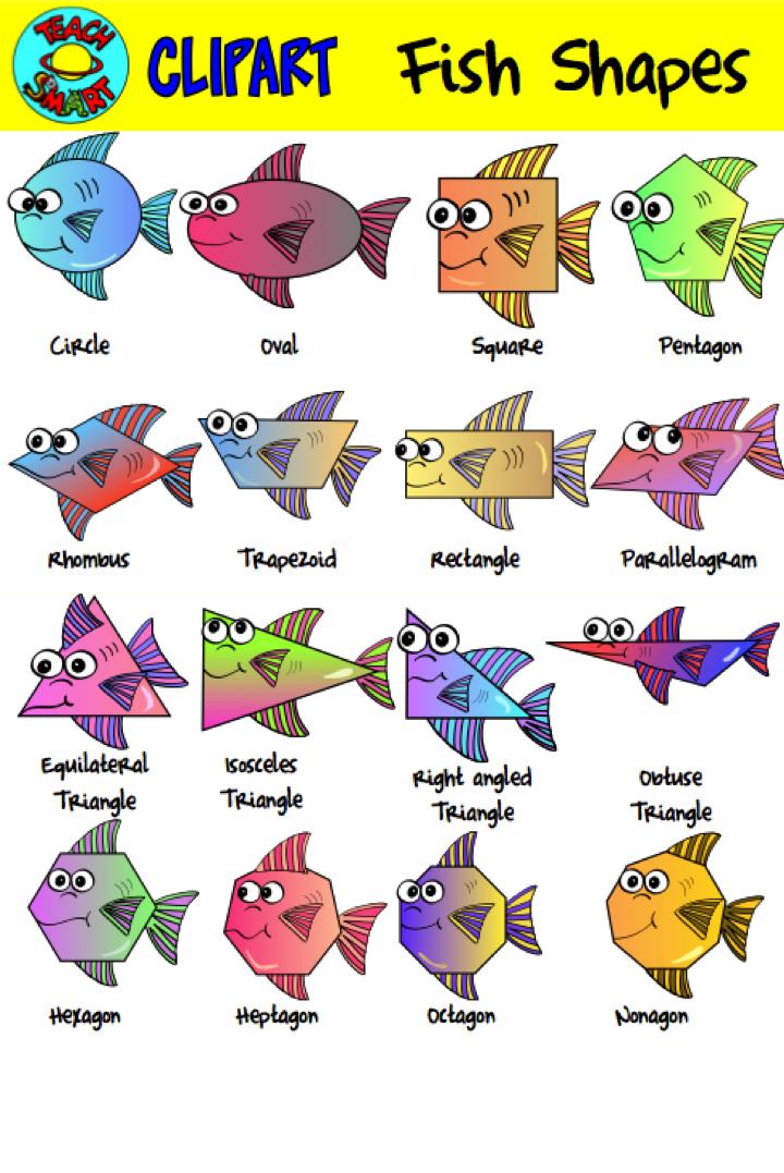 Pentagon clipart outline 2d Clip 2D Fish art